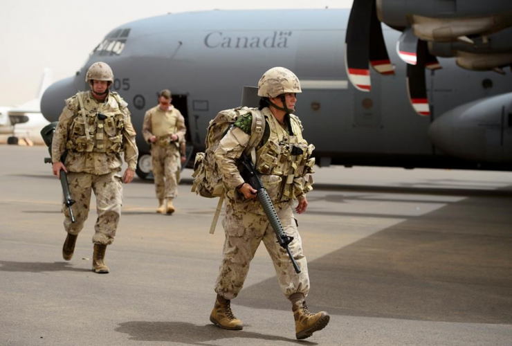 Canadian troops, UN base, Gao, Mali,