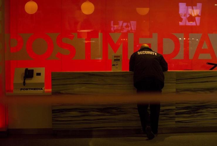 security guard, Postmedia,