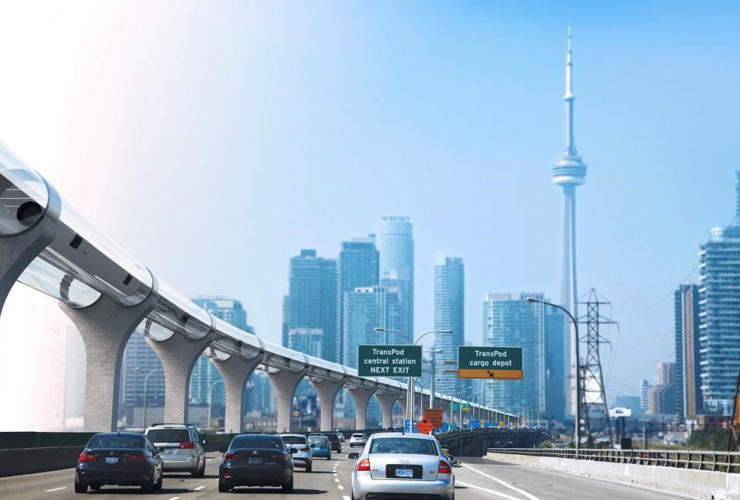 hyperloop, Toronto, HO-Transpod