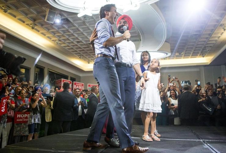 Prime Minister Justin Trudeau, Navdeep Bains, Mississauga,