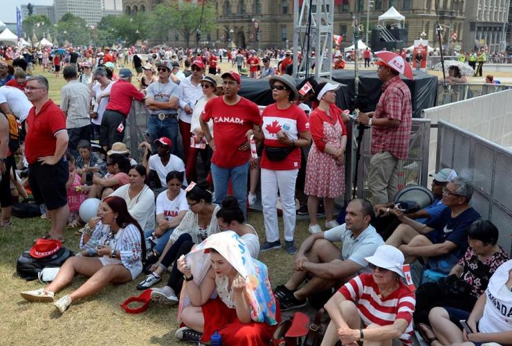 People, Canada Day, Parliament Hill, Ottawa,