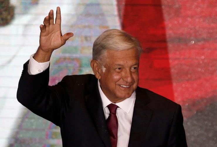 Andres Manuel Lopez Obrador, victory speech, Mexico City,