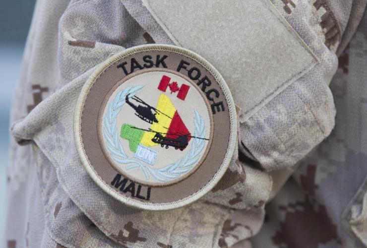 UN Mali patch, Canadian forces, uniform, Trenton,