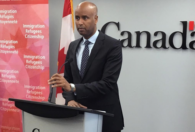 Ahmed Hussen, federal minister of Immigration, Refugees and Citizenship,