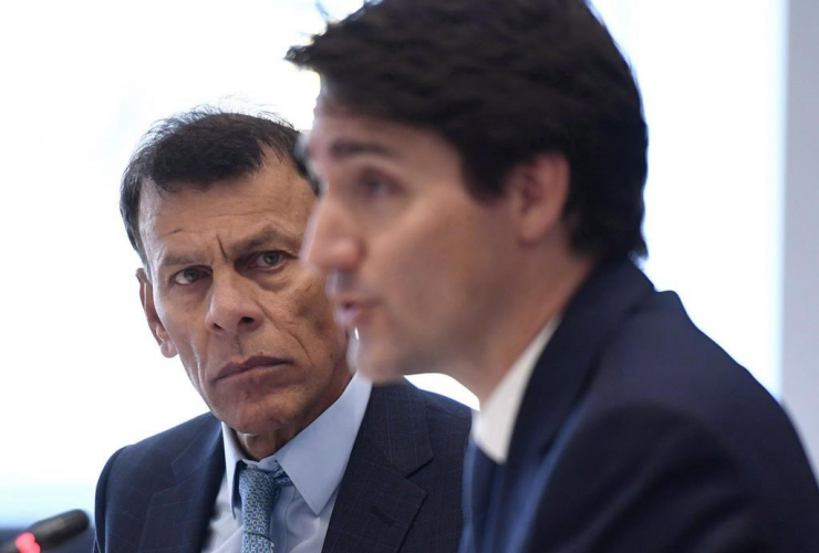 Canadian Labour Congress president Hassan Yussuff, Prime Minister Justin Trudeau, Labour 7 Consultation,
