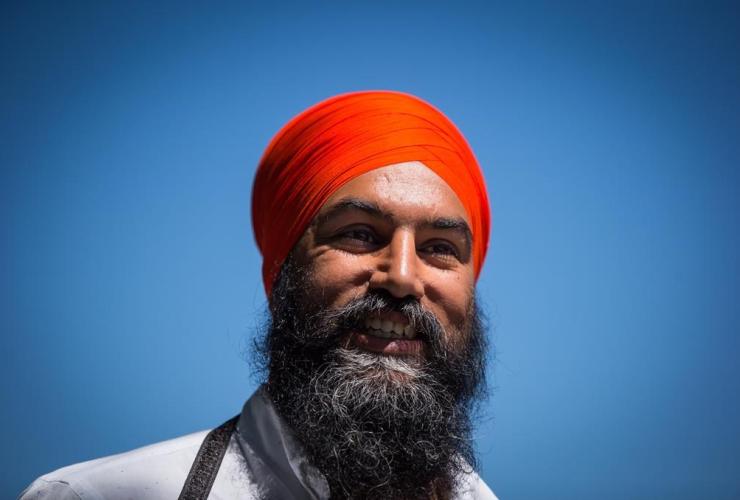 NDP Leader Jagmeet Singh, Greyhound bus service, Vancouver,