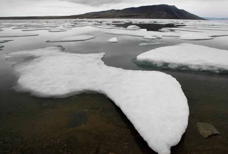 Ice floats, Slidre Fjord, Eureka Weather Station, Ellesmere Island, Nunavut,