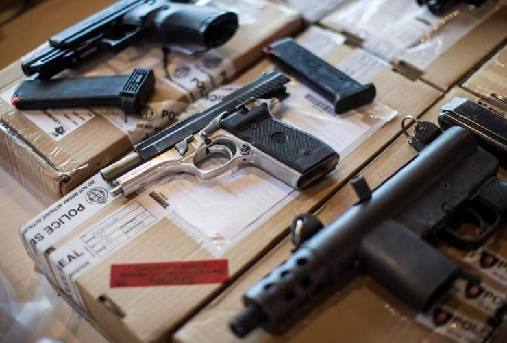 Police, guns seized,