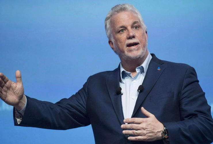 Quebec Premier Philippe Couillard, Quebec Liberal party, general council meeting, Montreal,