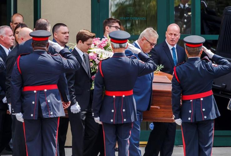 Pallbearers, funeral, Danforth shooting victim, Reese Fallon, Toronto,