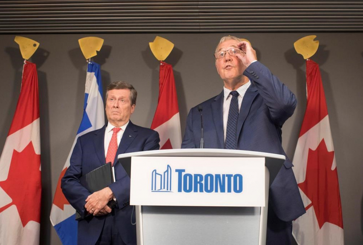 Bill Blair, federal minister of border security and organized crime reduction, Mayor John Tory,