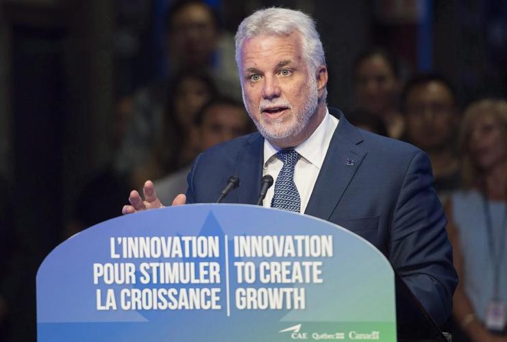 Quebec Premier Philippe Couillard, Montreal,