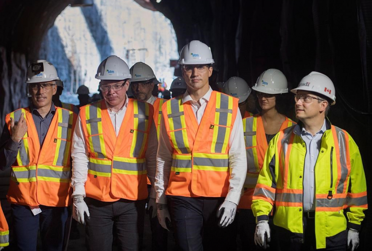 Prime Minister Justin Trudeau, Minister of Infrastructure and Communities, Francois-Philippe Champagne,