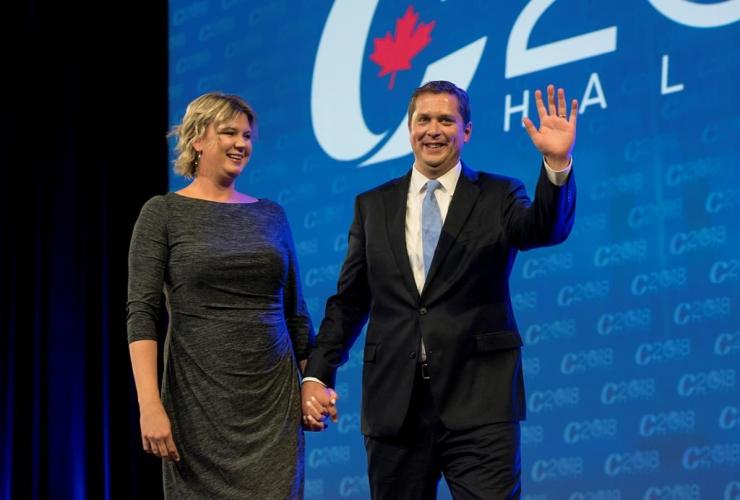 Conservative leader Andrew Scheer, Jill Scheer, Conservative national convention, Halifax,