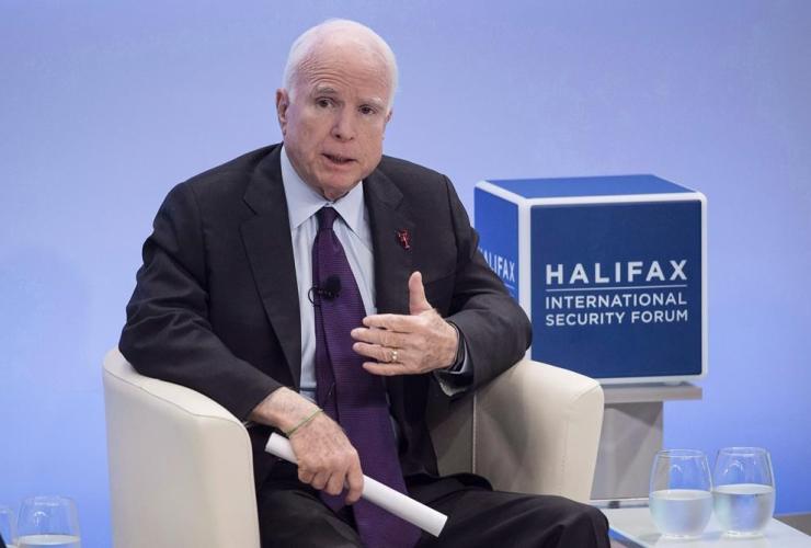 US Senator John McCain, Halifax International Security Forum, Halifax,