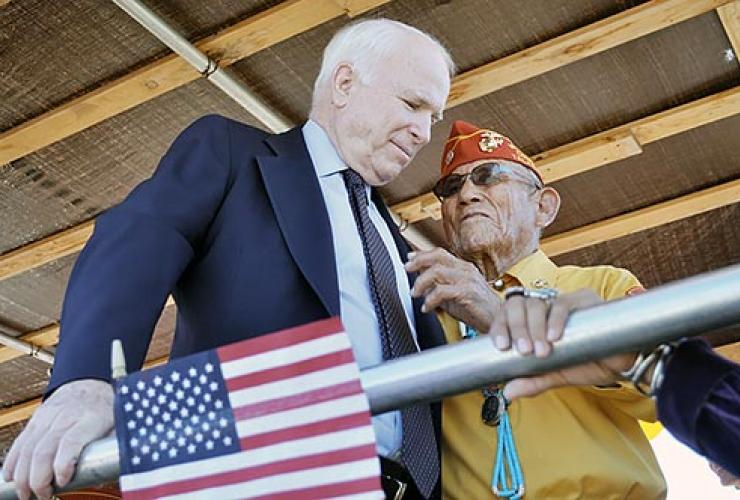 John McCain, Navajo Code talkers
