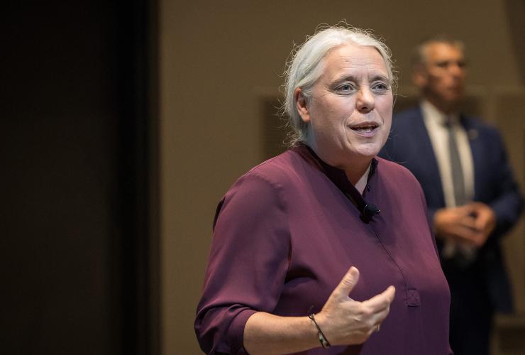 Manon Massé, Quebec solidaire spokesperson, 17 August 2018