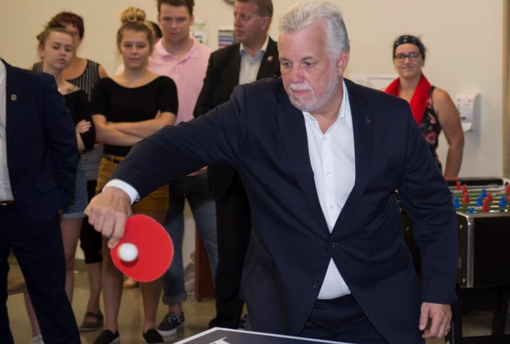 Quebec Liberal Leader, Philippe Couillard, table tennis, college, St-Agapit