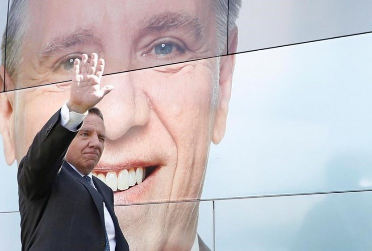 Coalition Avenir Quebec Leader, Francois Legault, Domaine Saint-Desire, Thetford Mines,