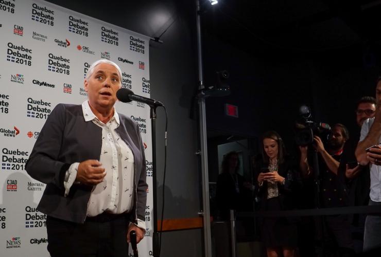 Quebec Solidaire, Quebec leadership debate, Quebec 2018, Manon Massé