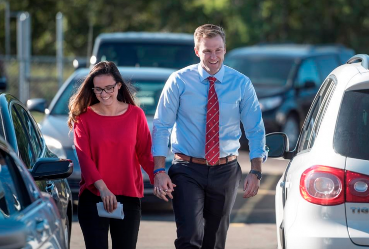 Brian Gallant, Karine Lavoie, New Brunswick election