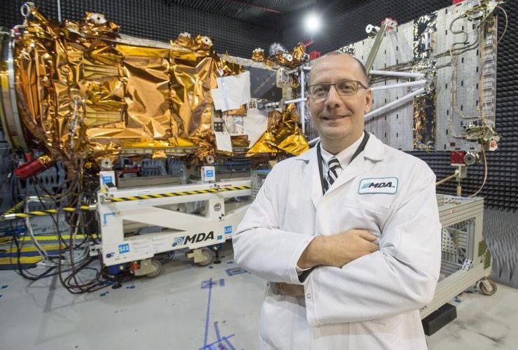 MDA's President Mike Greenley, RADARSAT Constellation Mission spacecrafts, Canadian Space Agency, Sainte-Anne-de-Bellevue,