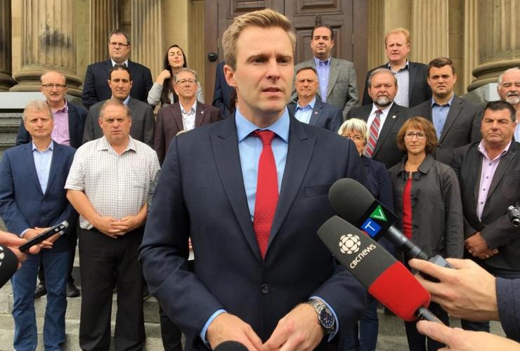 New Brunswick Premier Brian Gallant,