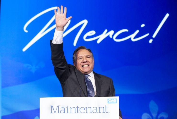 Francois Legault's takes the stage on Oct 1 after the CAQ wins the provincial election