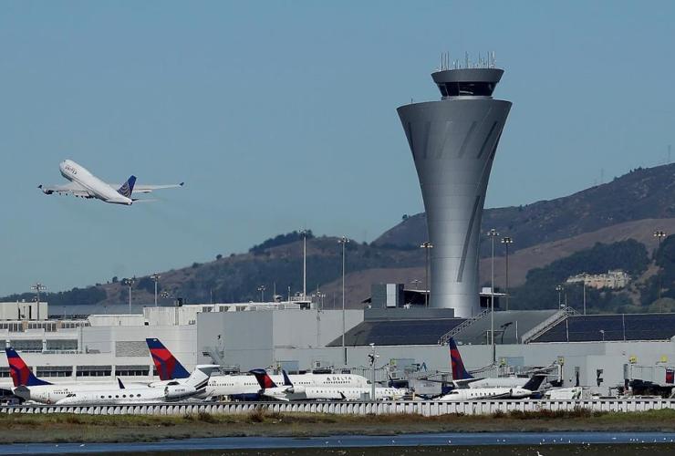 air traffic control tower, San Francisco International Airport, San Francisco,