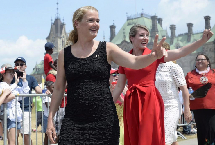 Governor General Julie Payette, Minister of Canadian Heritage Melanie Joly,