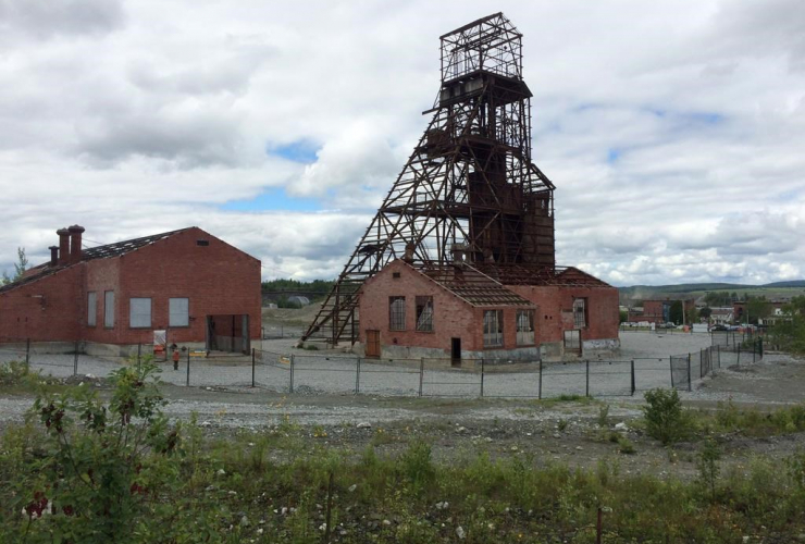 abandoned, asbestos mine, Thetford Mines, Que.,