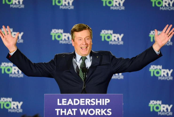 Toronto Mayor John Tory,