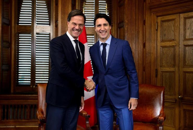 Prime Minister Justin Trudeau, Prime Minister of the Netherlands Mark Rutte,