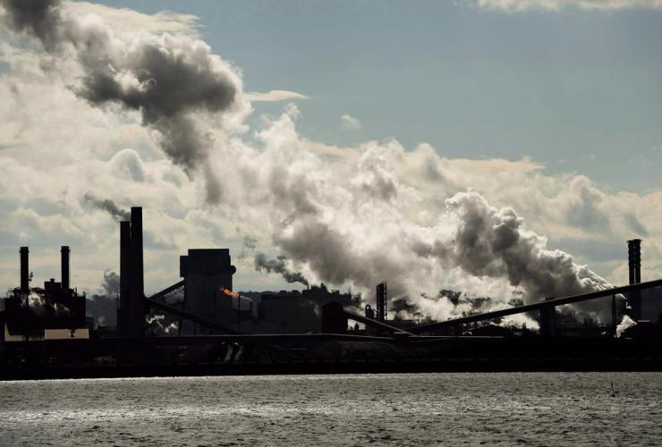 steel mills, Hamilton waterfront harbour, Hamilton,