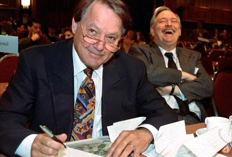 Bernard Landry, Parti Quebecois, PQ President, Jacques Parizeau,
