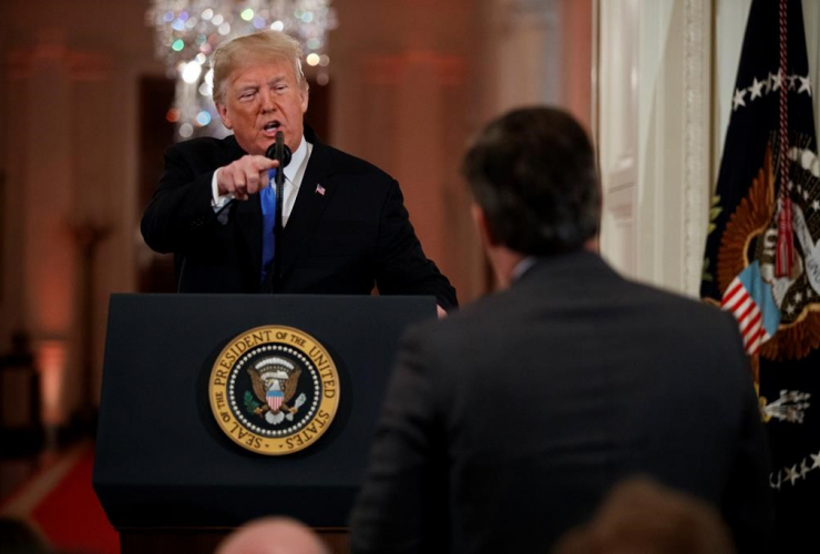 President Donald Trump, CNN journalist, Jim Acosta,