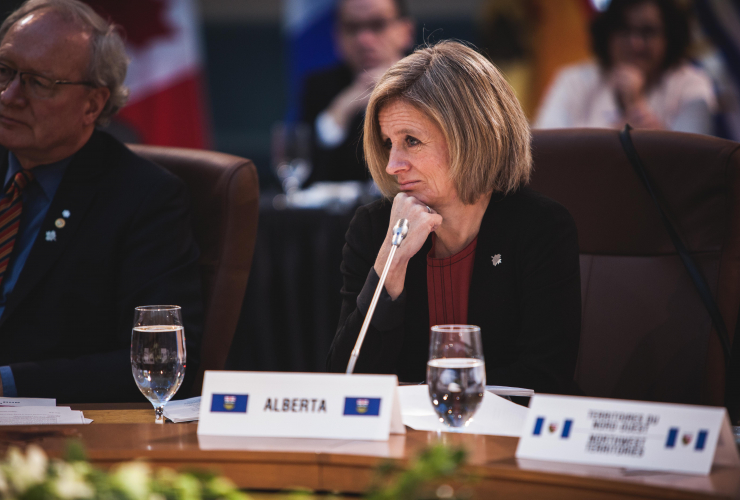 Rachel Notley meets with premiers in Ottawa on Dec. 9, 2016. Photo by Alex Tétreault