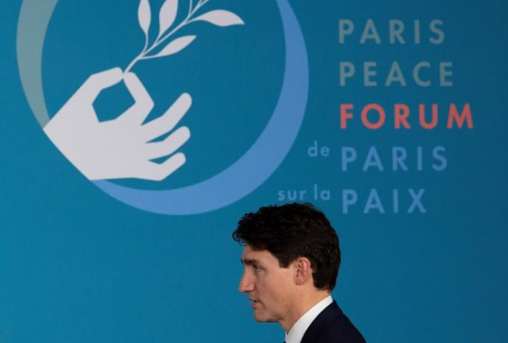 Prime Minister Justin Trudeau, Paris, Peace Forum, Paris, France,