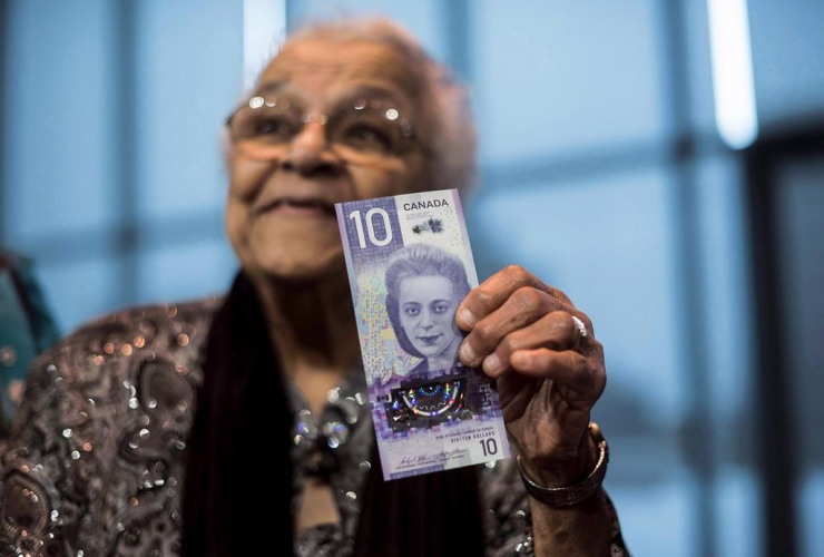 Wanda Robson, Viola Desmond, $10 bank note,