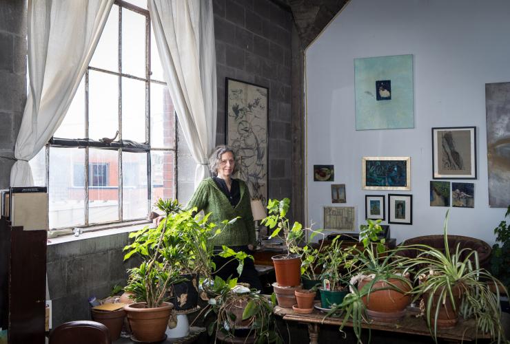Frances Foster in her studio in Marconi-Alexandra