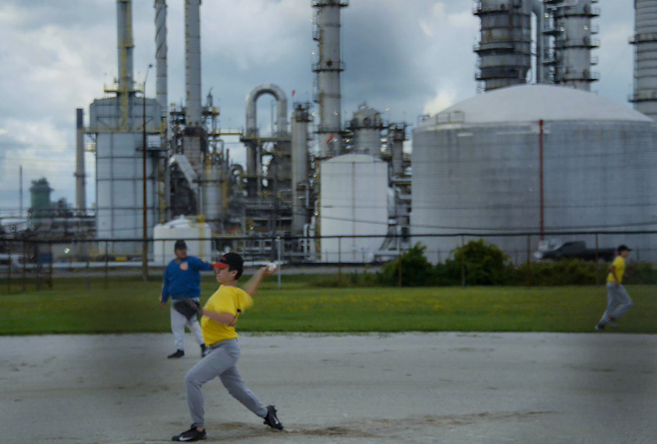 Sarnia, refinery, baseball, Global News, chemical plant