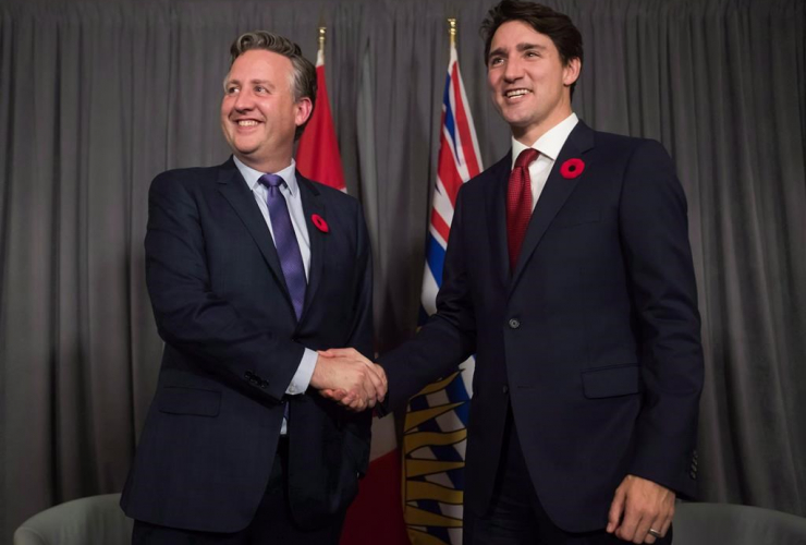 Prime Minister Justin Trudeau, Vancouver mayor-elect, Kennedy Stewart,