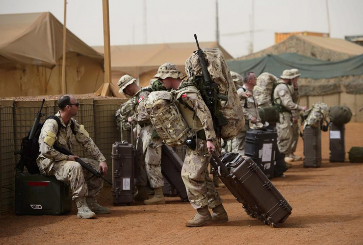 Canadian troops, UN base, Gao,