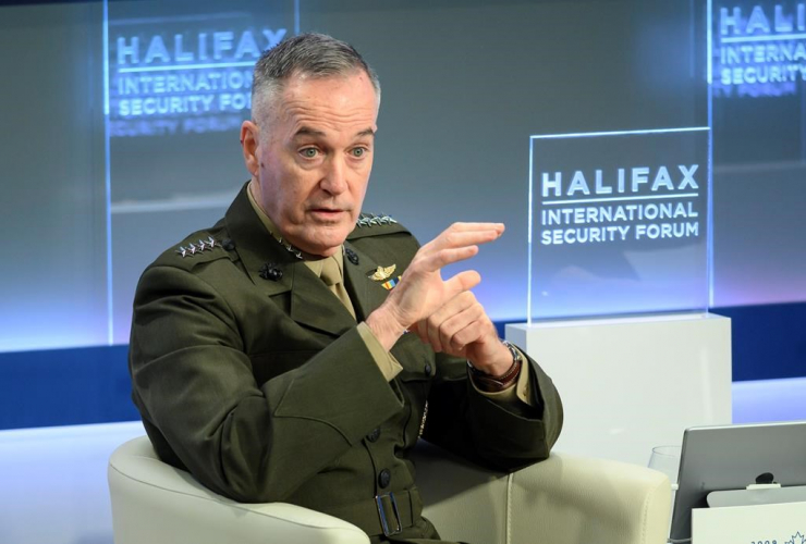 General Joseph F. Dunford, Jr., United States Marine Corps general, Chairman of the Joint Chiefs of Staff, Halifax International Security Forum,