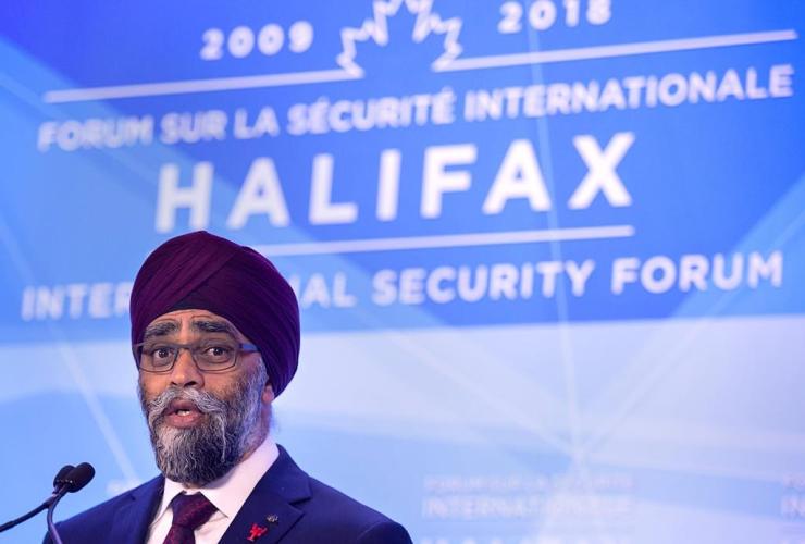 Canadian Defence Minister Harjit Sajjan,