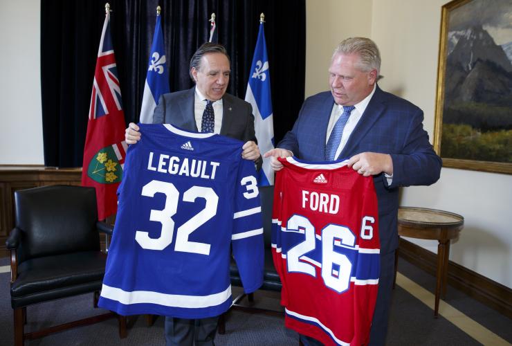 François Legault, Doug Ford, Toronto Maple Leafs, Montreal Canadiens
