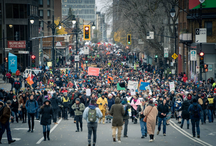 50,000 people march for climate in Montreal on Nov. 10, 2018