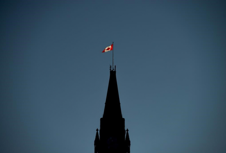 Canadian Flag, Peace Tower, Parliament Hill,