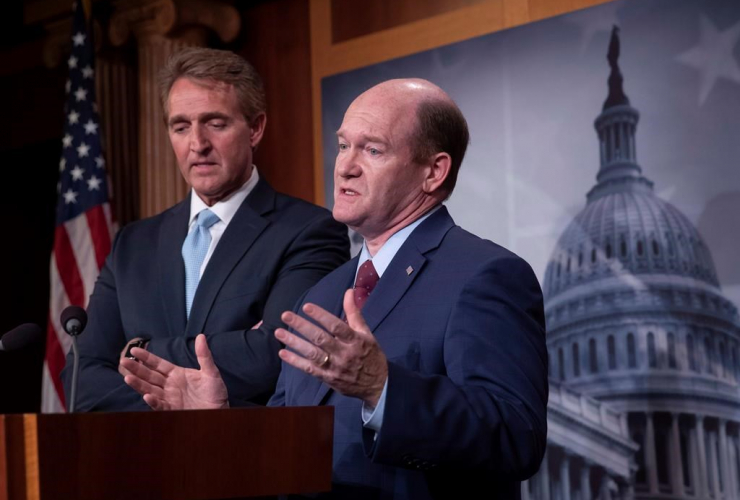 Sen. Jeff Flake, R-Ariz., Sen. Chris Coons,