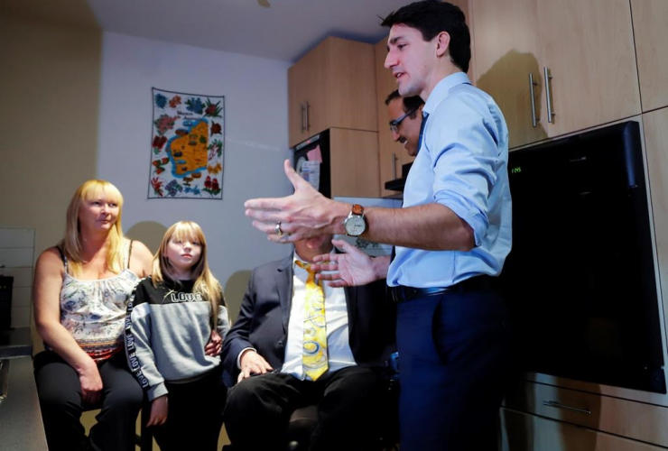 Prime Minister Justin Trudeau, Tracey Hume, Desiree Hume,